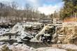 The frozen winter wonderland in Pocono Mountains