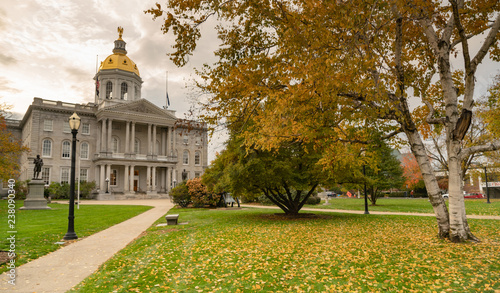 Fall Color Autumn Leaves Statehouse Grounds Concord New Hampshire Fototapet