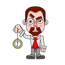 Hypnotist With A Clock In A Sh...