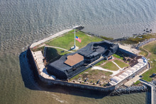 Fort Sumter With Flag At Half ...