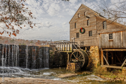 Photo  Historic Yates Mill Spillway, Wake County, NC In December