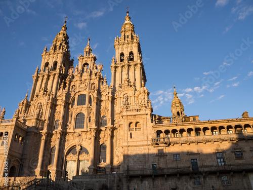 Fotografiet  Catedral de Santiago de Compostela en Galicia, España, vacaciones de 2018