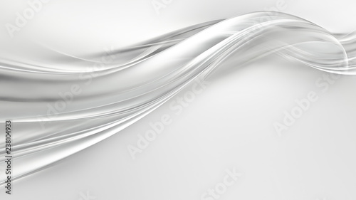 Tuinposter Abstract wave abstract white background