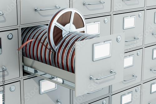 Cinema Archive concept, 3D rendering