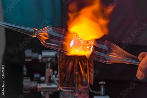Fotografia Glasbläserei Nahaufnahme Flamme