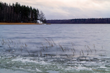 First Ice On The Lake In Late ...