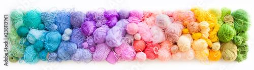 Fotomural Colored balls of yarn