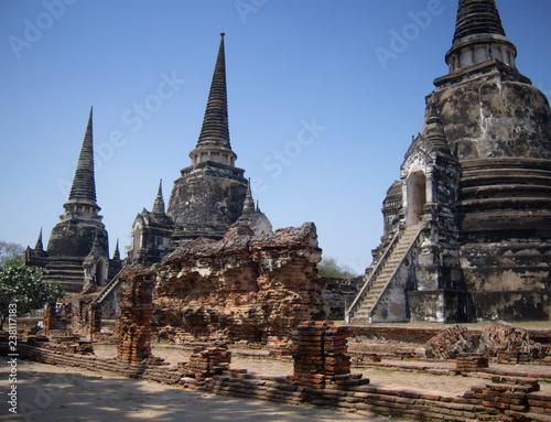 3 Stupas, Ayutthaya Canvas Print