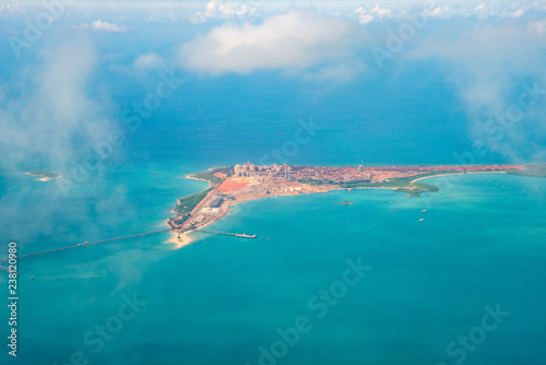 Aerial view of Alumina Refinery located on the Gove Peninsula in North East Arnhem land in the Northern Territory of Australia Canvas Print
