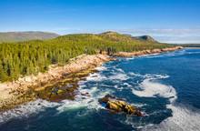 Aerial View Of Acadia Shore In...