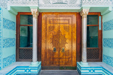 Beautiful Carved Wooden Ornamental Door In Oriental Style