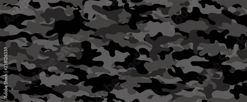 Camouflage background. Seamless pattern.Vector. 迷彩パターン Canvas Print