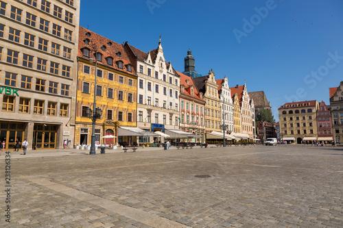 Fototapeta  Market Square in the center of Wroclaw, Poland obraz na płótnie