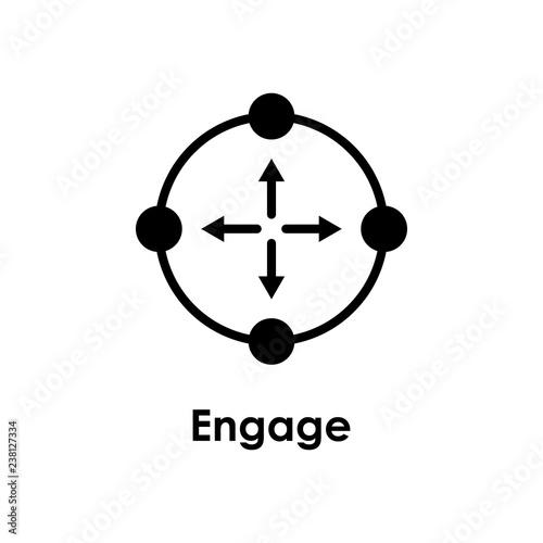 Fotografie, Obraz target, arrow, engage icon