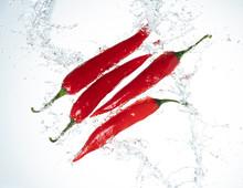 Chili Peppers Water Splash