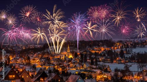 Silvester Neujahr Weihnachten in Seiffen Erzgebirge Sachsen Deutschland