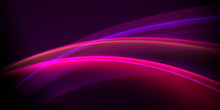 Abstract Bright Light Purple Rays On A Black Background
