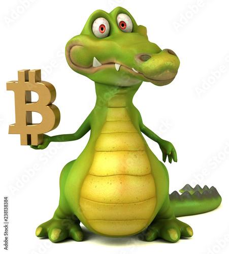 Fototapeta Fun crocodile - 3D Illustration