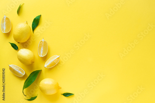 Lemons on yellow - 238139342