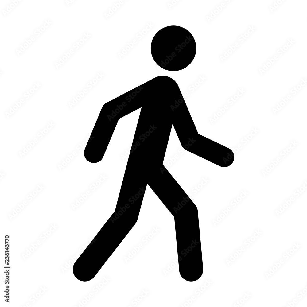 Fototapety, obrazy: A person walking or walk sign flat vector icon for apps and websites