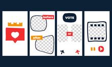 Banner Vote For Instagram Stories. Vector Design