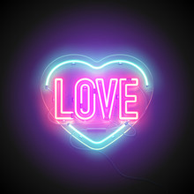 Neon Signboard Heart Love2