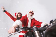 Santa Claus With White Beard W...