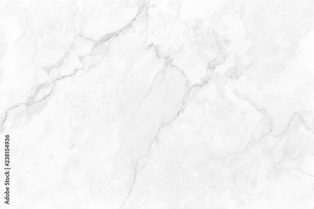 Fototapeta White gray marble background with luxury pattern texture and high resolution for design art work. Natural tiles stone.