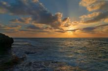 Sunset In Dor Beach