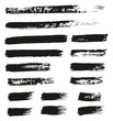 Paint Brush Thin Lines High Detail Abstract Vector Background Set 147