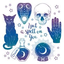 Magic Set - Planchette, Skull,...