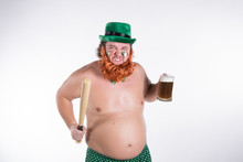 St.Patrick 's Day. Funny Fat M...