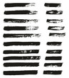Paint Brush Thin Lines High Detail Abstract Vector Background Set 61