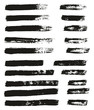 Paint Brush Thin Lines High Detail Abstract Vector Background Set 59
