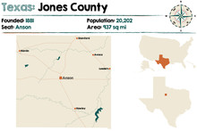 Detailed Map Of Jones County I...