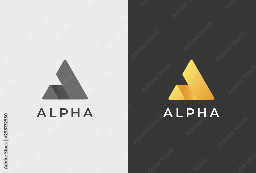 Fototapety, obrazy: Letter A Logo Icon Design Template.