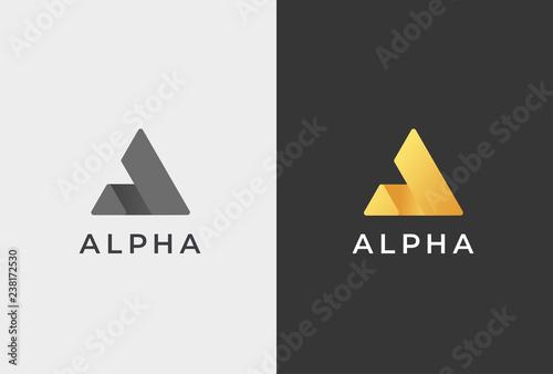 Fotografía  Letter A Logo Icon Design Template.