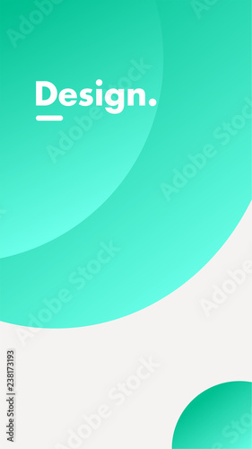 In de dag Groene koraal Mobile background gradient ui design
