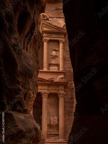 Fotografie, Obraz  The Treasury in Petra Jordan.