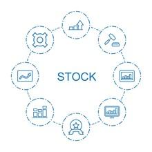 Stock Icons. Trendy 8 Stock Ic...