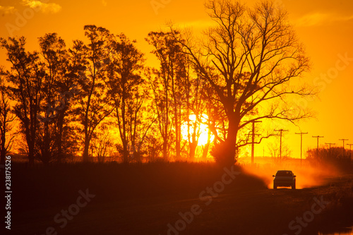 Fototapety, obrazy: Sunset in the countryside