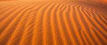 Detail Of Sand Dunes In The Desert