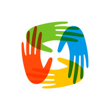 Colorful People Hands Concept ...