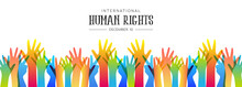 Human Rights Day Banner Of Div...