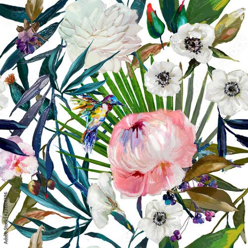 kwiatowy-wzor-akwarela