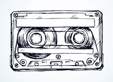 Cassette. Vector Drawing