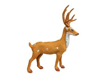 Christmas Deer Toy Isolated On...
