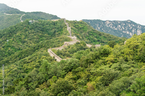 Foto op Canvas Aziatische Plekken Great Wall of China, Mutianyu site, China