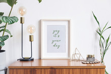 Retro And Minimalistic White I...