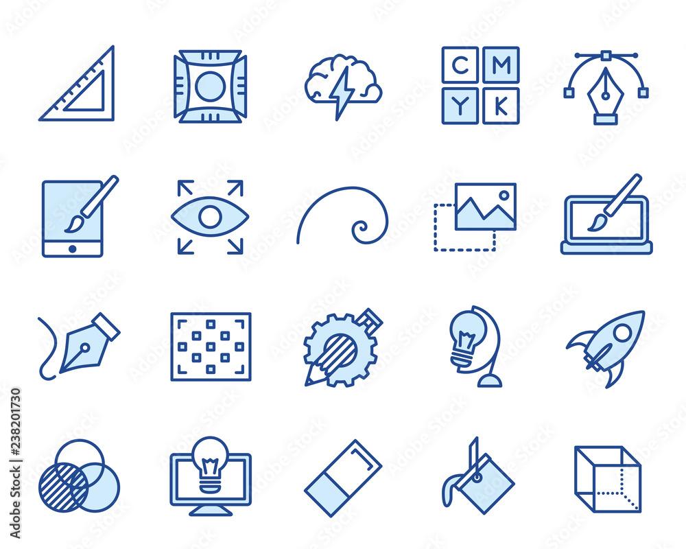 Fototapeta Design und Grafik Vector Icon Illustration Set